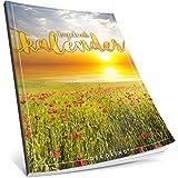 Tagebuch kalender: One Line A Day • Ca. A4-Format, Notizseiten & Zitate für jeden Monat • Kalenderbuch, Tagesplaner, Terminkalender • ArtNr. 11 Sunset • Vintage Softcover