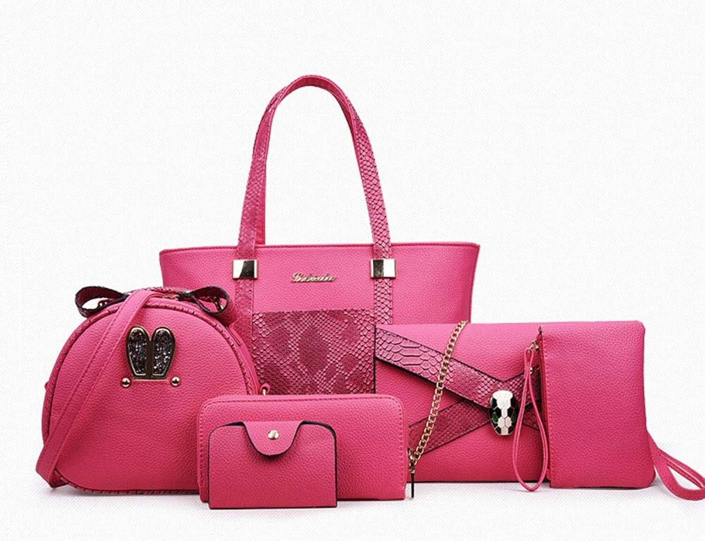 Ailihan Handtasche Back Brötchen Mutter Tasche traf Farbe einzelne Schulter Big-Bag Handtasche Grünikale Frauen 6 teiliges Set B07L4NJCXJ  Verrückter Preis