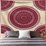 NTtie Tapiz Dormitorio Sala Dormitorio Decoración Flor geométrica sentada Manta Colgante de Pared Toalla de Playa