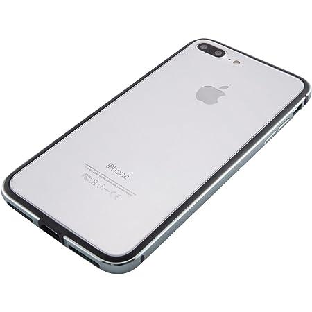 iPhone 8 Plus / 7 Plus アルミバンパー [ 衝撃吸収 2重構造 電波干渉無し ][ ワイヤレス充電 対応 ][ 簡単脱着 ネジ不要 ][ ストラップホール ] アイフォン ケース, カバー, 耐衝撃 アルミ バンパー グレー