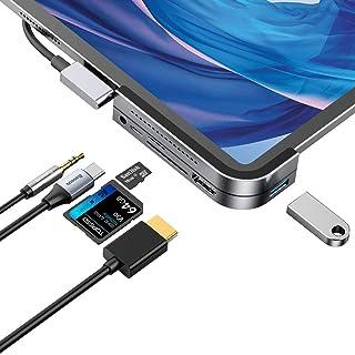 Baseus USB C ハブ 6in1 iPad Pro用 ドッキングステーション 60W PD充電 USB Type-Cアダプター 4K HDMI SD/マイクロカードリーダー USB 3.0 3.5mmヘッドフォンジャック iPad Pr...