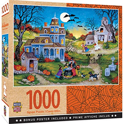MasterPieces Halloween Jigsaw Puzzle, Three Little Witches, Featuring Art by Bonnie White, 1000 Pieces