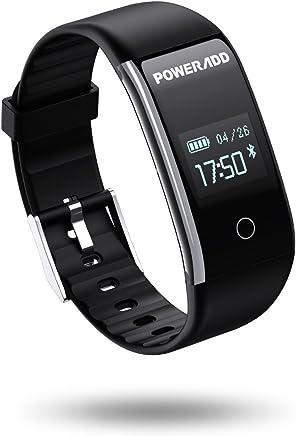 POWERADD Montre Connecté, Bracelet Connectée Intelligent Fitness Tracker dActivité Etanche IP67 Smartwatch Cardiofréquencemètre