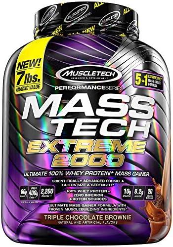 Mass Gainer Protein Powder MuscleTech Mass Tech Extreme 2000 Muscle Builder Whey Protein Powder product image