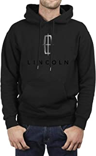 Lincoln-Motor-Company- Mens Classics Pullover Hoodie Sweater Pull on Closure Black