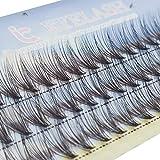 30 Roots 0.03mm Ultra Thin 9mm/10mm/11mm/12mm C/D Curl Grafting false eyelashes False Eyelashes Individual Natural Long Mink Fake Eyelashes Extension Handmade (C Curl, 10mm)