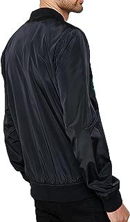 BuZaiYouYu Mens Japanese Bomber Jacket MA1 Embroidered Tiger Summer Biker Coat Fashion