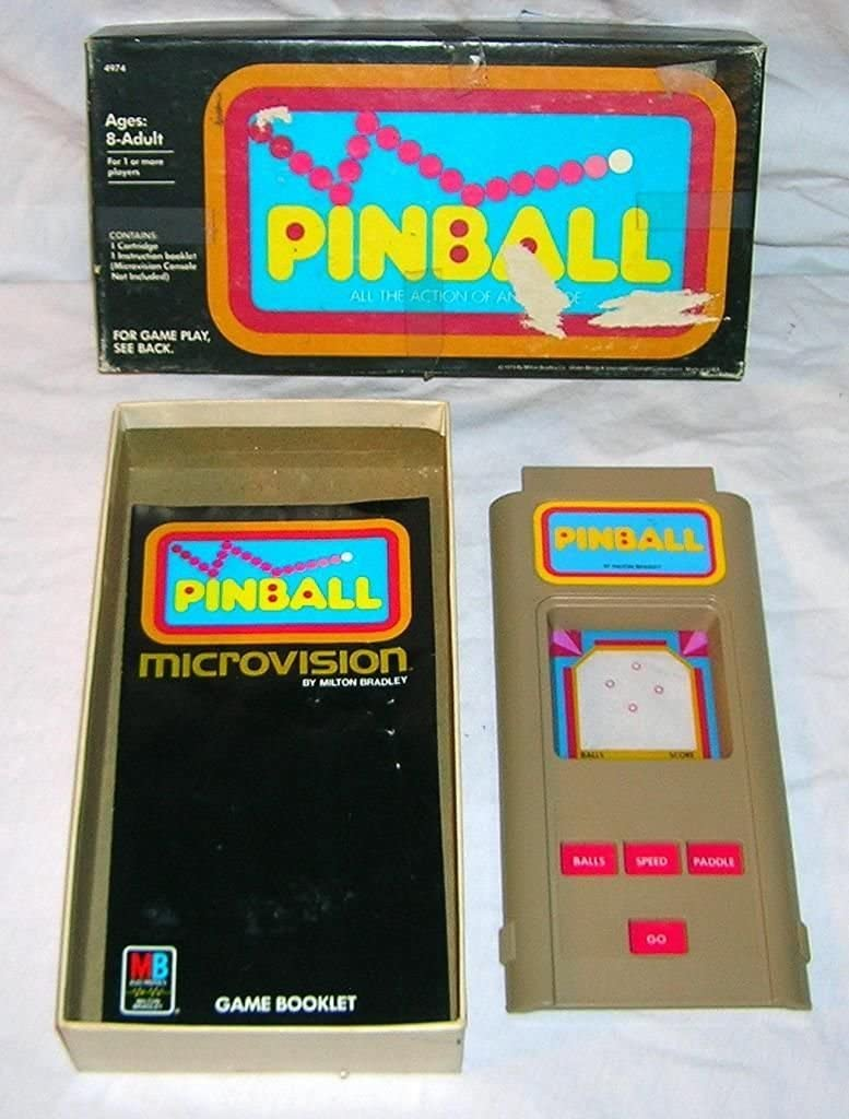 Ranking TOP15 Raleigh Mall 1979 Microvision Pinball Handheld Cartridge Electronic Game
