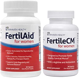 FertilAid for Women and FertileCM Combo - 1 Month Supply by Fairhaven Health