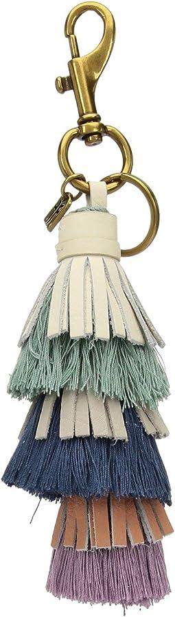 Cotton Tiered Tassel Keychain