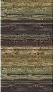 Dark Hunter Green to Harvest Gold Ombre Batik Stripe Watercolor Blender ~ Half Yard ~ by Wilmington ~ Patt: 5520 Color: 225 ~ Tie Dye (Ikat) Bali Batik Quilt Fabric 100% Cotton 45