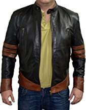 coolhides Men's Xmen XO Wolverine Fashion Moto Leather Jacket