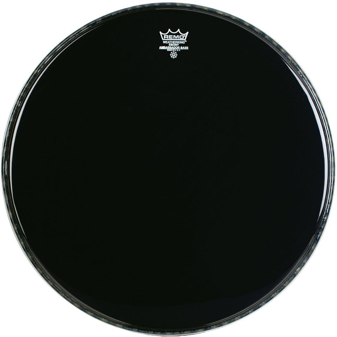 Manufacturer OFFicial shop Remo ES1020-00 20-Inch Ebony Drum Ambassador Gifts Bass Head