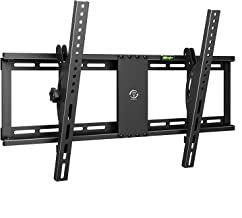 Tilt TV Wall Mount Bracket for Most 32-75 Inch LED LCD OLED Plasma Flat Curved Screen TVs, Low Profile, Up to VESA 600x400mm, Fits 16
