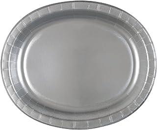 """أطباق ورقية بيضاوية، 30.48 سم، عدد 8 12.25"""" x 10.25"""" 33429"""