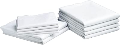 12 new bright white hotel pillow cases covers standard size 20/'/'x30/'/' t-180tc