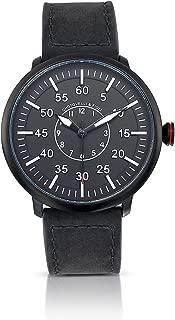 Flieger Men's Pilot Watch Auto-Quartz Movement Vintage Suede Leather Strap 1919B