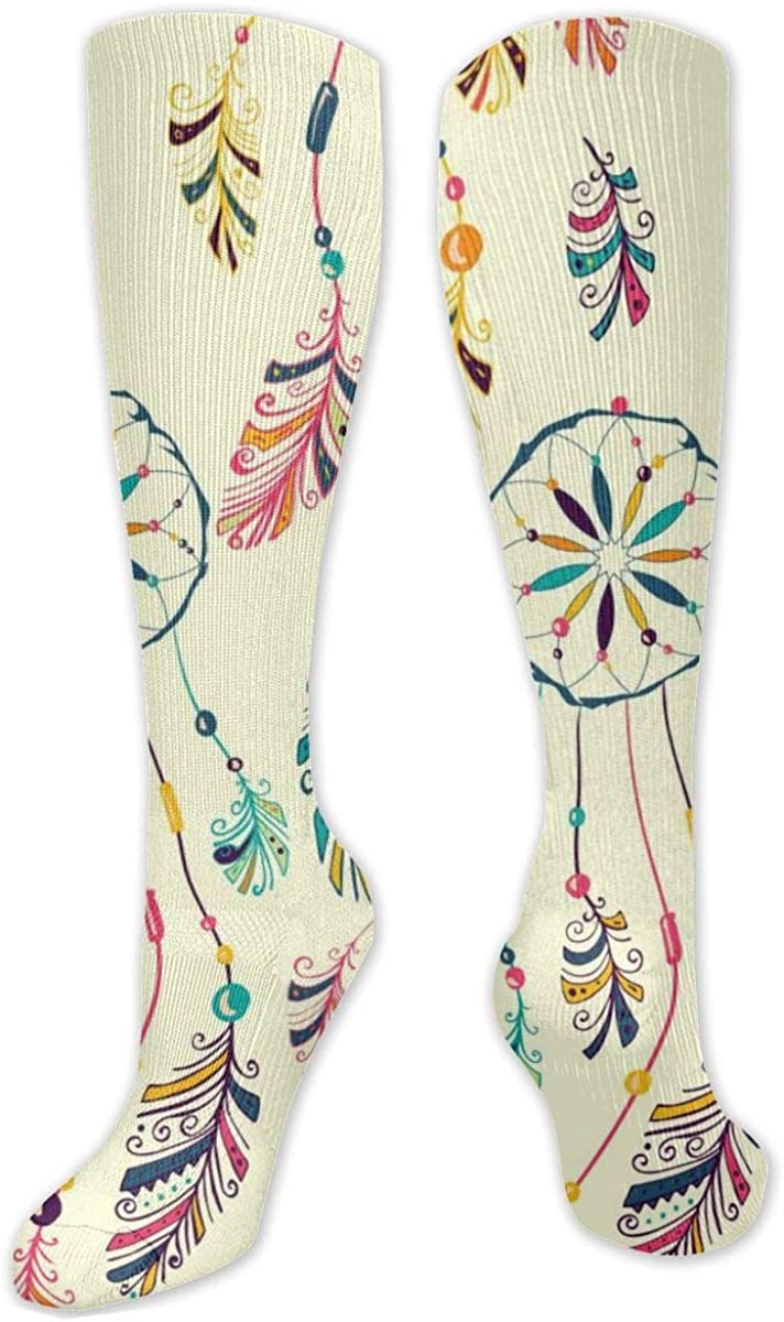 Ethnic Art Pattern Knee High Socks Leg Warmer Dresses Long Boot Stockings For Womens Cosplay Daily Wear
