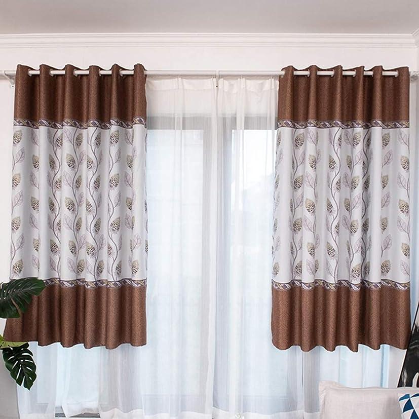 電話可動筋肉の1ピースコーヒーカラードラゴンフラワープリントシェードカーテンカーテン用リビングルームの寝室の穿孔,Punch100*200cm