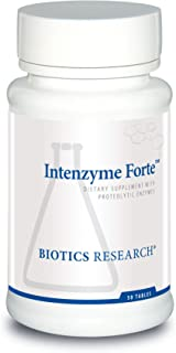 Biotics Research Intenzyme Forte™ - Proteolytic Enzymes, Pancreatin, Bromelain, Papain, Lipase, Amylase, Protein Metabolism. 50 tabs
