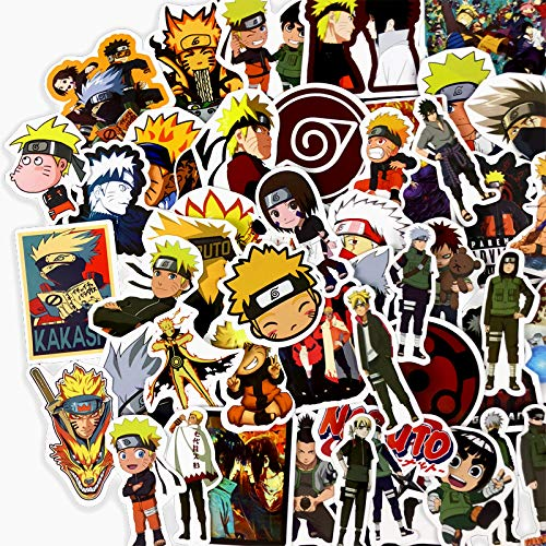 DSSJ 50 Pegatinas Ninja Naruto Night Kaizo Ayuda a Cassie I Love Rogge Pegatinas de Dibujos Animados de Mano a Prueba de Agua