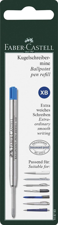 B blau schwarz Kugelschreibermine Kugelschreiber Faber Castell Großraummine M