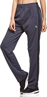 BALEAF Women's Open Bottom Lounge Sweat Pants Jogger Athletic Sweatpants Straight Leg Zippered Pockets