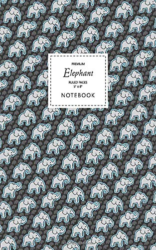 Elephant Notebook - Ruled Pages - 5x8 Notizbuch - Premium (Night Blue)