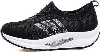 7b5fd10e729 Zapatos de Malla Transpirable, HONGANG Zapatos de Cuña Ocasionales de la  Moda con Malla Transpirable