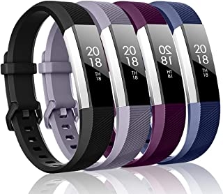 ZEROFIRE Bands Compatible with Fitbit Alta HR and Fitbit Alta (4 Pack), Sport Wristbands with Secure Metal Buckle for Fitb...
