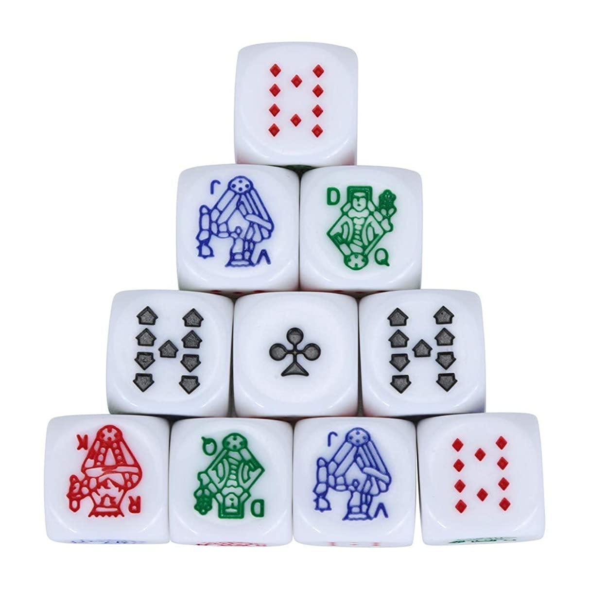 Dice Polyhedral Multi 10pcs/Set for Game Hexagon Sided Acrylic Poker Dice
