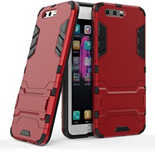 Case for Huawei Honor 9 / Honor9 Premium (5.15 inch) 2 in 1 Shockproof with Kickstand Feature Hybrid Dual Layer Armor Defe...