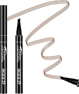 Aaiffey Eyebrow Tattoo Pen- Waterproof Microblading Eyebrow Pencil with a Micro-Fork Tip Applicator Creates Daily Natural Brows Makeup Effortlessly