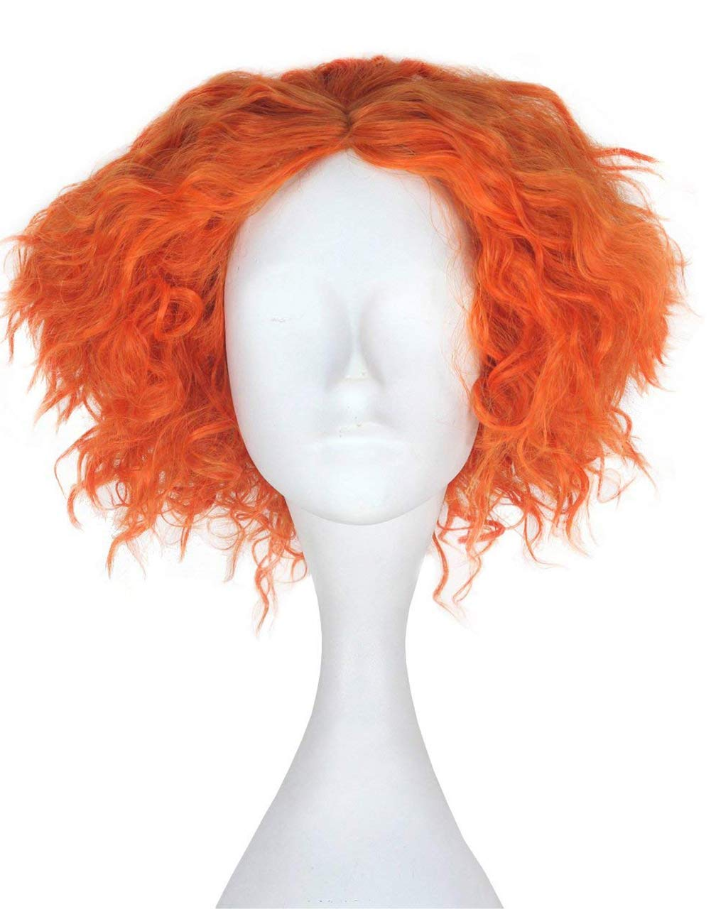 safety Short Curly Orange Wig All items in the store and W Fluffy Layered