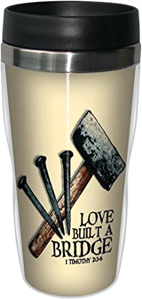 Tree-Free Greetings sg24341 Build a Bridge: Timothy 2:3-6 Sip 'N Go Stainless Steel Lined Travel Tumbler,  16-Ounce