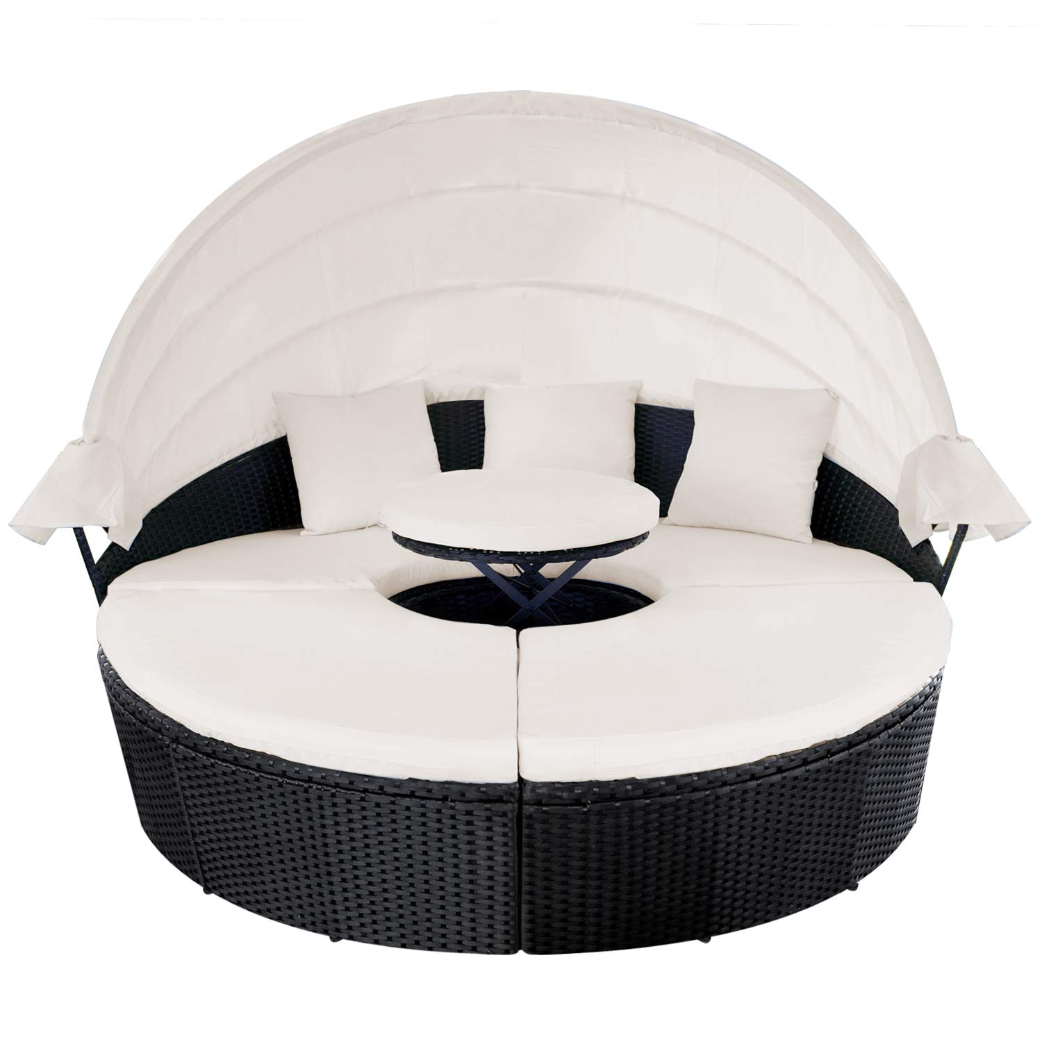 Outdoor Furniture Daybed Retractable Backyard