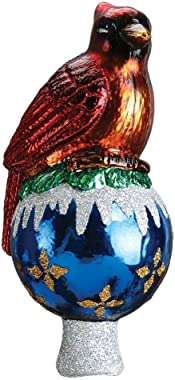 Old World Christmas Cardinal Tree Top Glass Bird Tree Topper