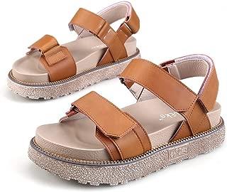 Zarbrina Women's Flatform Sandals Teen Girls Fashion British Style Open Toe Ankle Strap Beach Rome Shoes