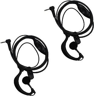 AOER 2 pack G Shape Clip-Ear Headset Earpiece Mic for Motorola Talkabout 2 Two Way Radio Walkie Talkie 1-pin