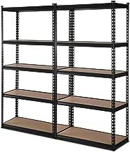 2x New Giantz Steel Warehouse Storage Rack Garage Shelving Racking Unit Black 0.7M 70CM