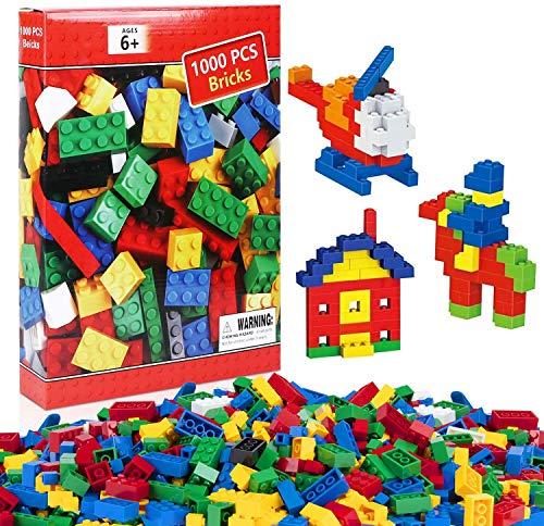 iNeego Bloques de Construcción 1000 Piezas Bloques de Construcción Infantil 3D Juegos de Construcción Ladrillos de Construcción Juguete Colorido Juego para Niños Juguetes Educativos