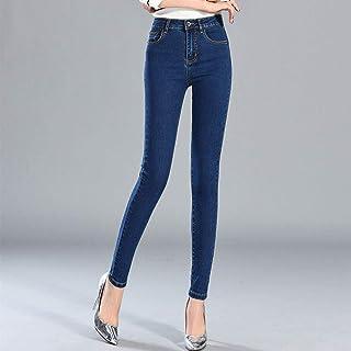 Jeans Street, Pantalones Elásticos De Cintura Alta, Pantalones De Tubo De Cintura Delgada, Pantalones Vaqueros De Talla Gr...