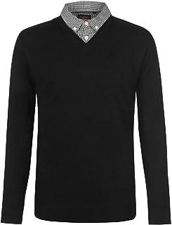 Pierre Cardin Mens Mock V Neck Knit
