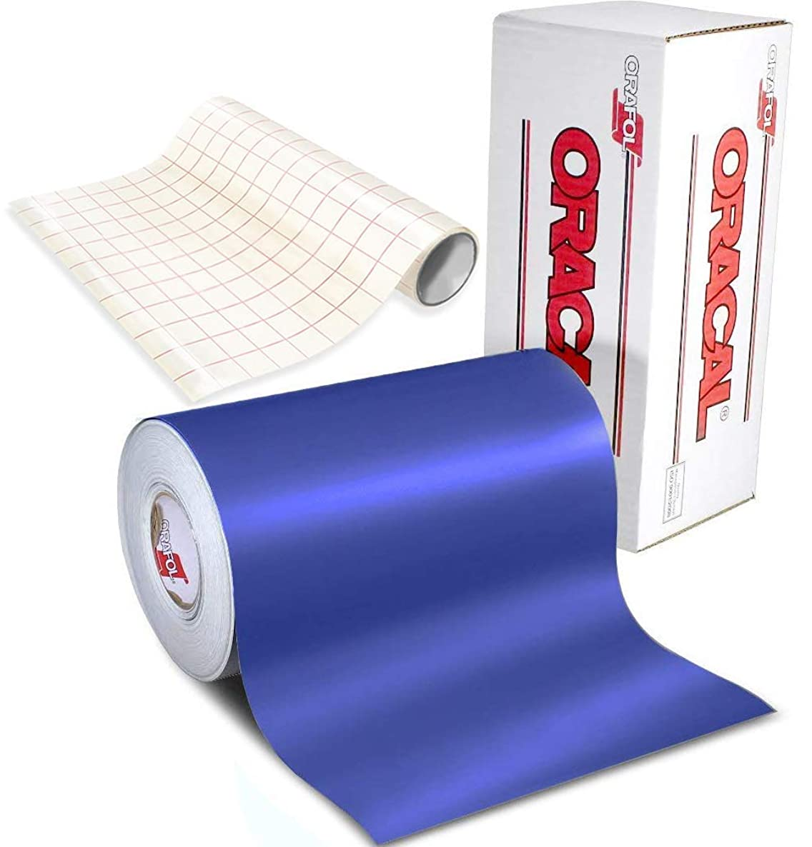 ORACAL 631 Matte Brilliant Blue Adhesive Craft Vinyl for Cameo, Cricut & Silhouette Including Free 12