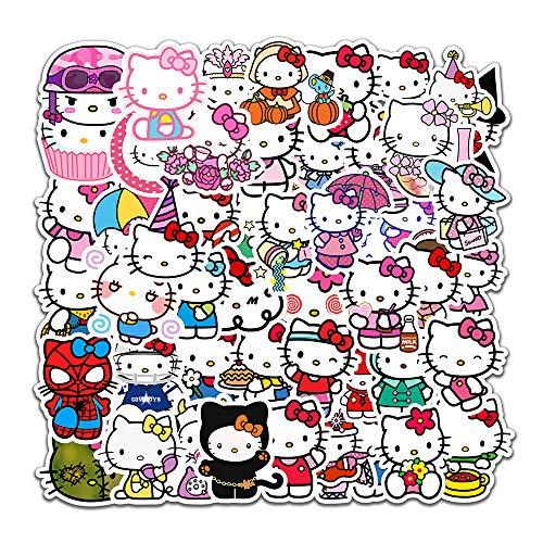 Hellokitty Cartoon Kinderkoffer Handy Tablet Tablet Laptop Hand Konto Aufkleber KT Katze 50PCS