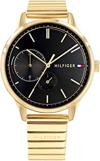 Tommy Hilfiger 1782019 Womens Quartz Watch, Analog Display and Stainless Steel Strap, Black