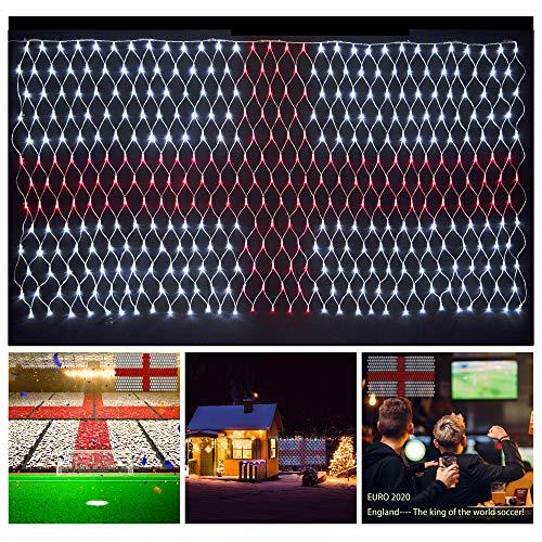 Flaggennetz Lichter von England RGB LED Streifen Lichter Union Jack LED Lichterkette für Außen Garten Bar...