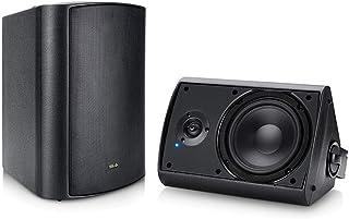 """Wireless Outdoor Speakers, 6.5"""" Bluetooth Weatherproof Speakers for Deck Patio Backyard, Pair (Black)"""