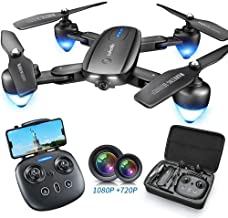 $95 » Foldable Drone with 1080P HD Camera for Kids and Adults,Zuhafa T4,WiFi FPV Drone for Beginners-Altitude Hold Mode, RTF One Key Take Off/Landing, APP Control,Double Camera(2Pcs Batteries)