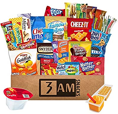 3 AM Snacks Snacks College, Easter Candy Gift, Halloween Gifts For Kids, Peanut Butter Gift Box, Best Mens Gifts, 48 Count